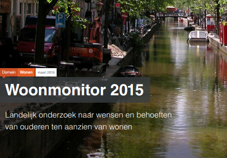 Woonmonitor 2015: senioren nog onbekend met nieuwe woonvormen